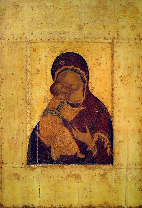 Владимирская икона Божией Матери письма Андрея Рублева