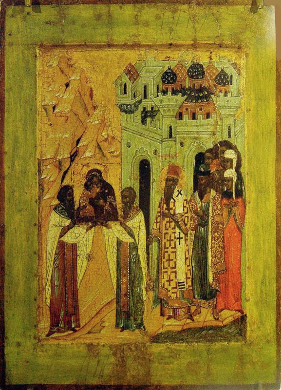 Москвичи с почестями встречают Владимирскую икону Божией Матери