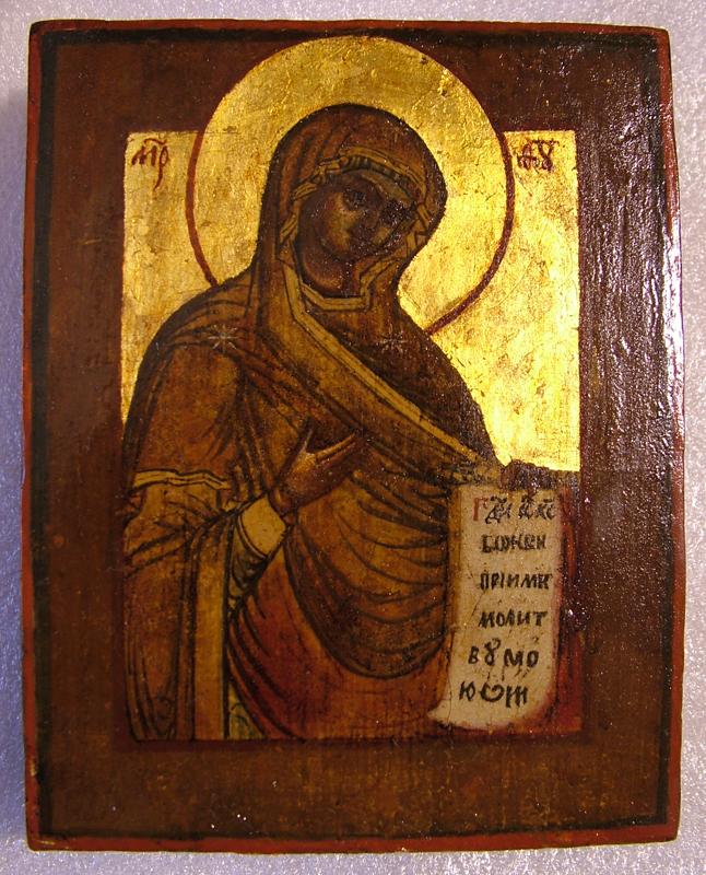 Икона Богородицы (Реставрация)