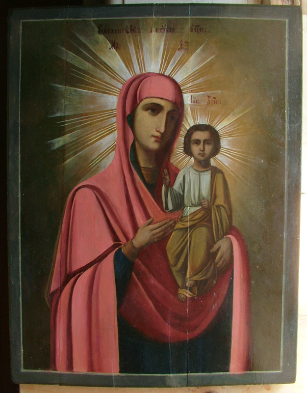 Смоленский образ Богородицы (Реставрация)