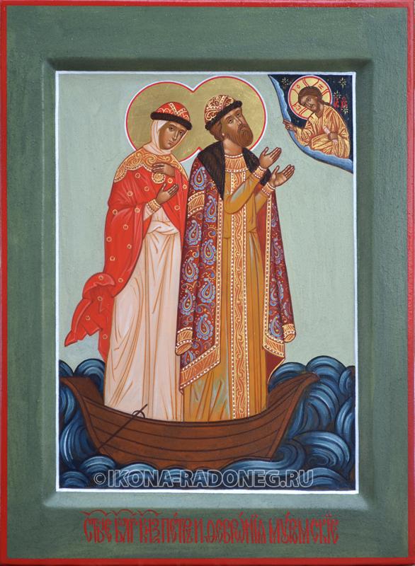 Петр и Феврония в лодке