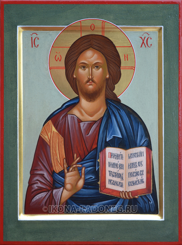 Рукописная икона Спас Пантократор (Вседержитель)
