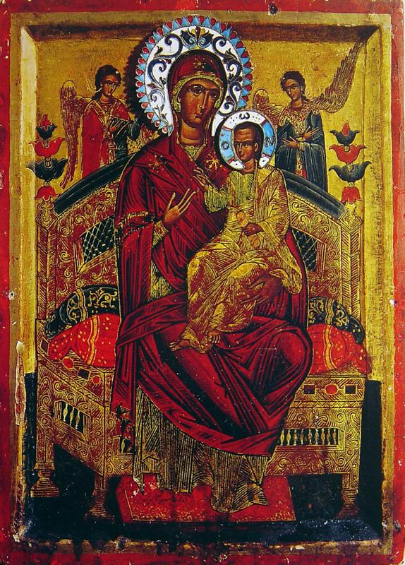 Византийская икона Божией Матери Всецарица