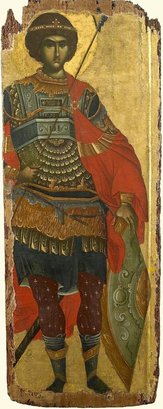 Ростовая икона Георгия Победоносца. Византия