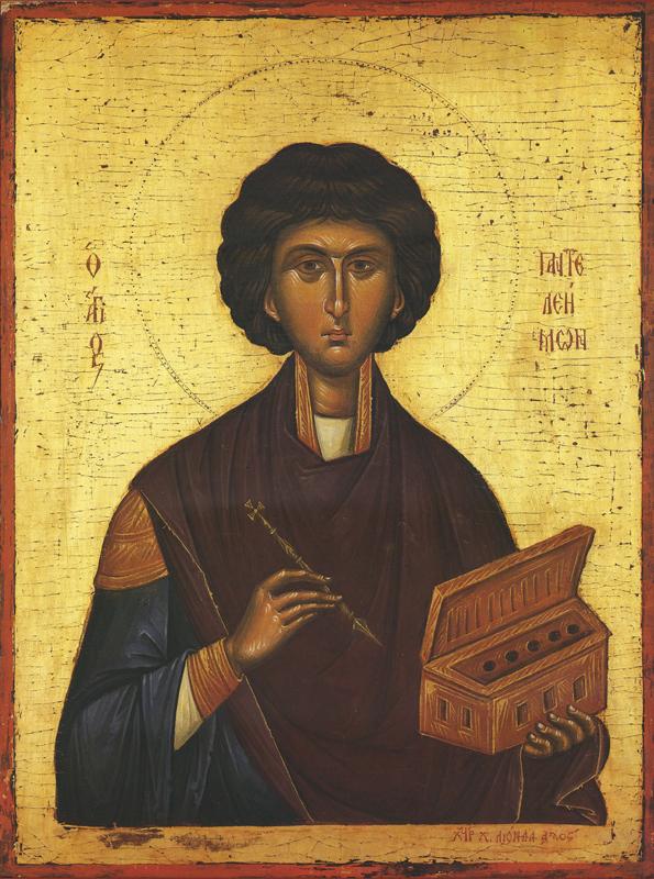 Икона Пантелеймона Целителя. Афон.