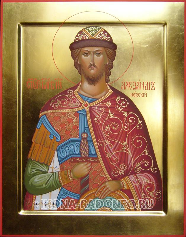 Икона Александра Невского. Иконописная мастерская Радонежъ