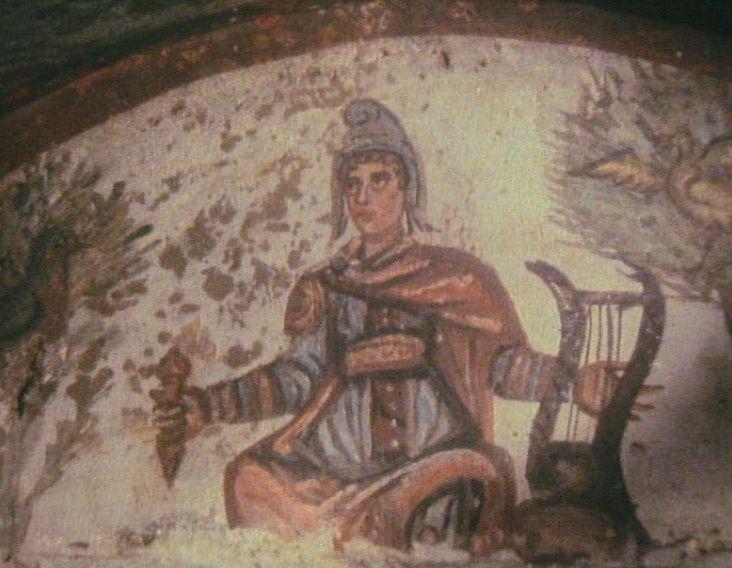 Христос в образе Орфея