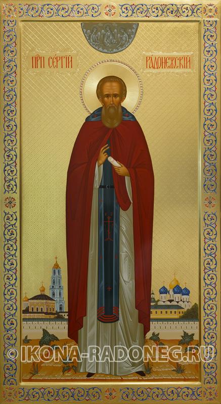 Икона Сергия Радонежского. Иконописная мастерская Радонежъ