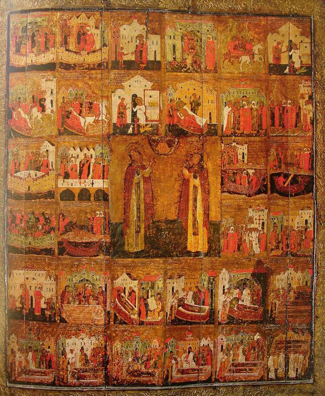 икона Петр и Феврония с житием