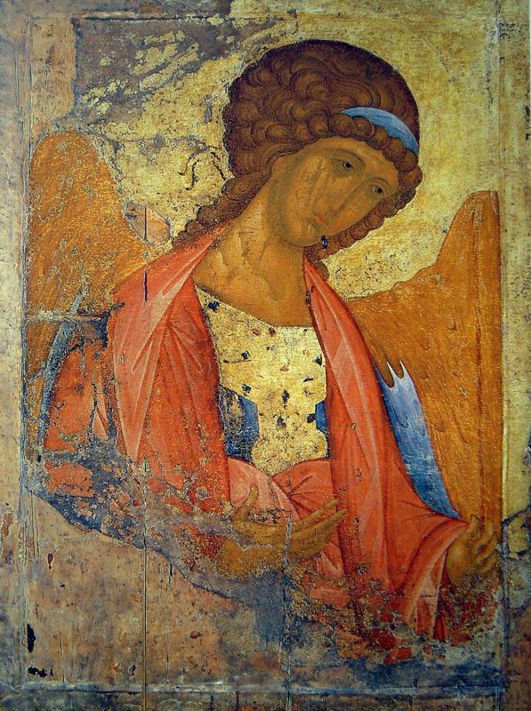 Икона Архангел Михаил. Андрей Рублев. Звенигород.