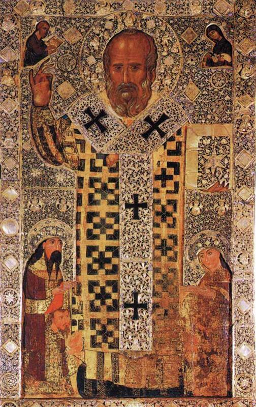 Икона Николая Чудотворца. Крипта Базилики св. Николая