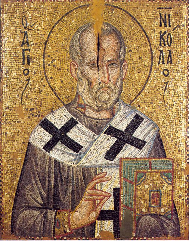 Икона Николая Чудотворца. Мозаика