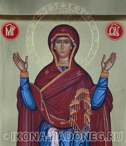 Икона Божией Матери Нерушимая Стена (фрагмент)