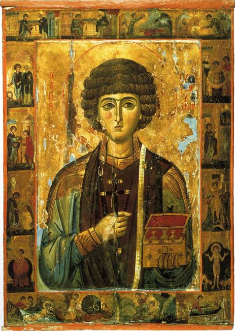 Икона Пантелеймона Целителя. Византия