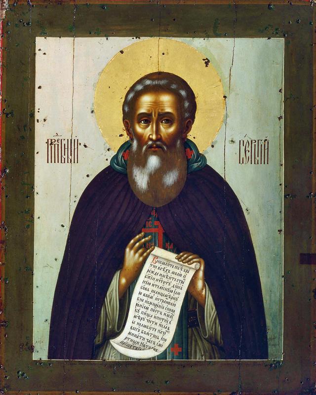 Икона Сергия Радонежского. Симон Ушаков