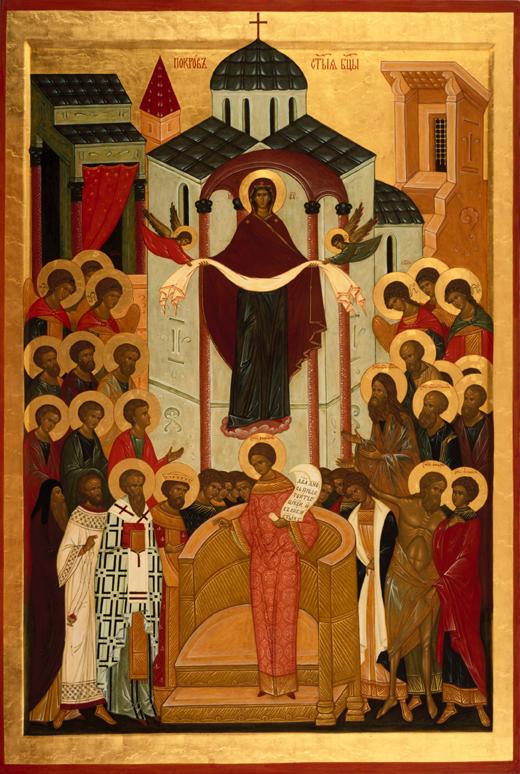 Икона Божией Матери - Покров
