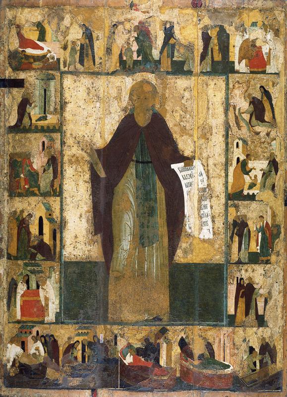 Житийная икона Сергия Радонежского. Троицкий Собор