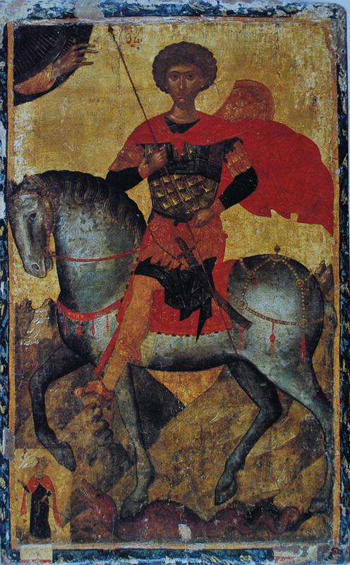Святой Георгий икона. Византия