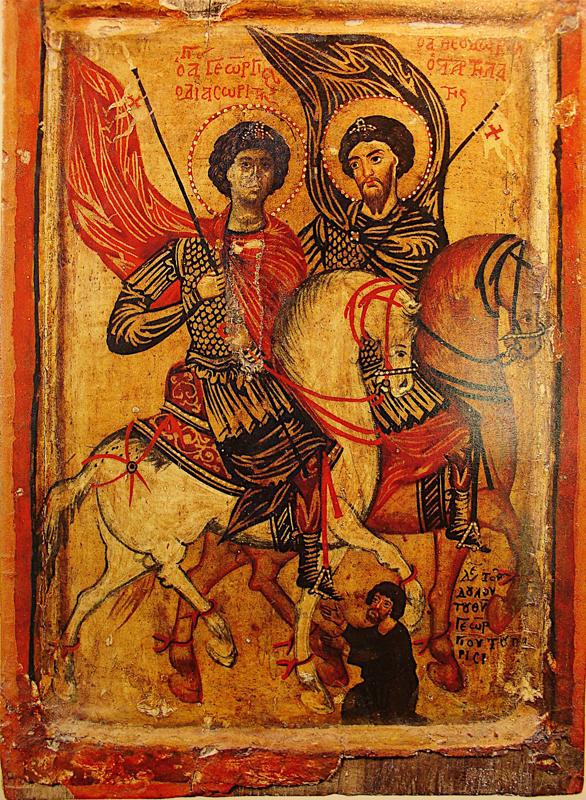 Икона Георгия Победоносца. Византия