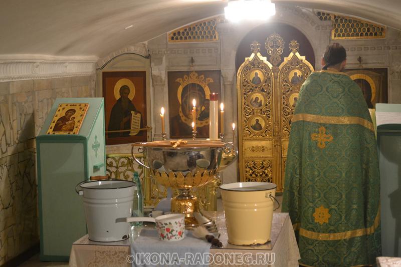 Освящение иконы в крипте Успенского собора