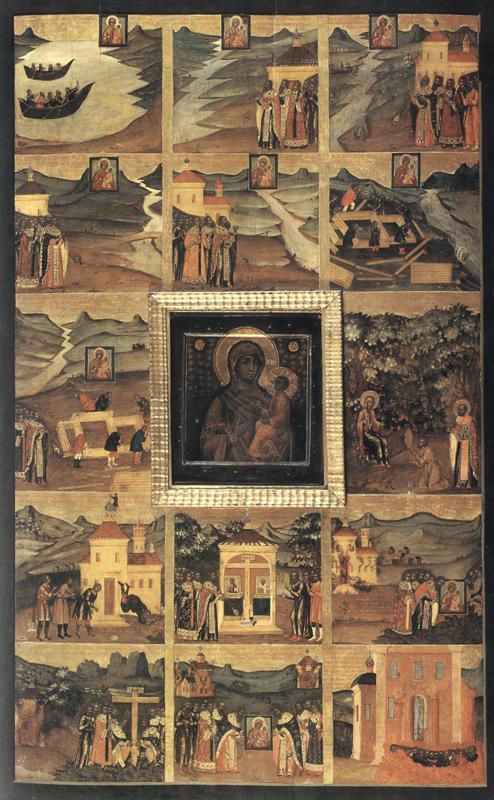Тихвинская икона Божией Матери. Оружейная палата. 1697 год.