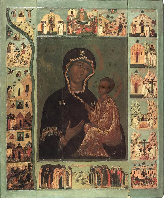Тихвинская икона Божией Матери. 16 век