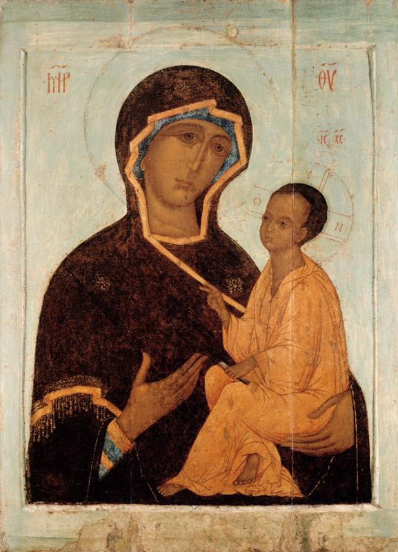 Тихвинская икона Божией Матери. Русь