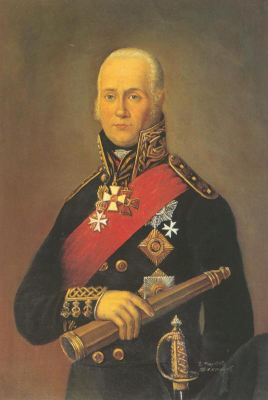 Портрет адмирала Федора Феодоровича Ушакова. Бажанов Петр. Россия. 1812 год.