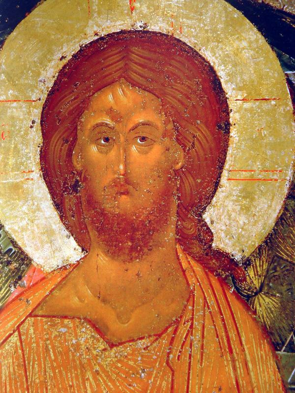 Спас в Силах (фрагмент). Икона из деисусного чина Успенского собора Кирилло-Белозерского монастыря.