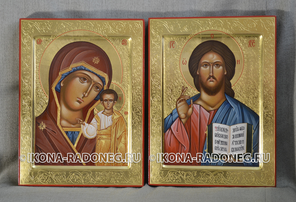 Венчальные иконы с гравировкой
