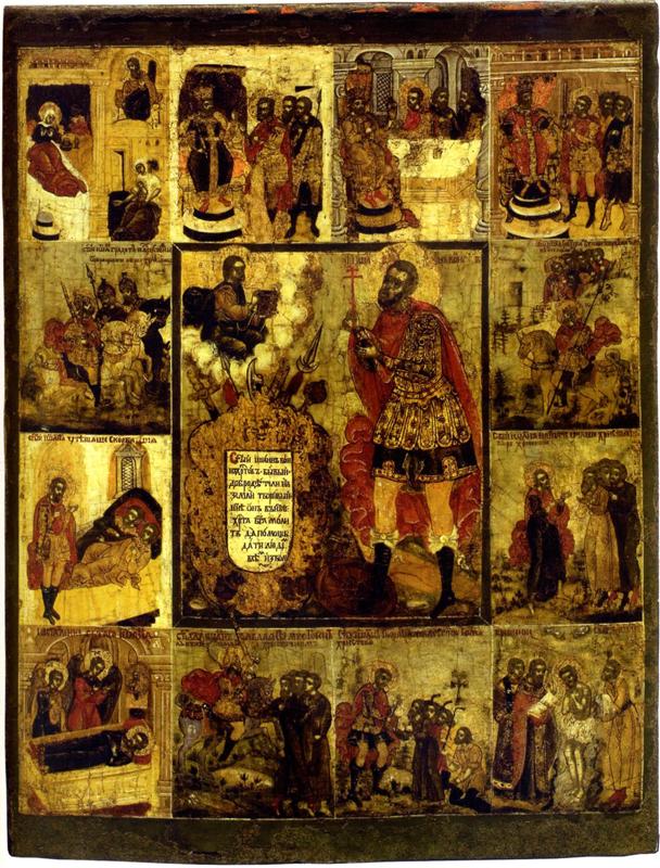 Иоанн Воин. Икона. Россия. 18 век.