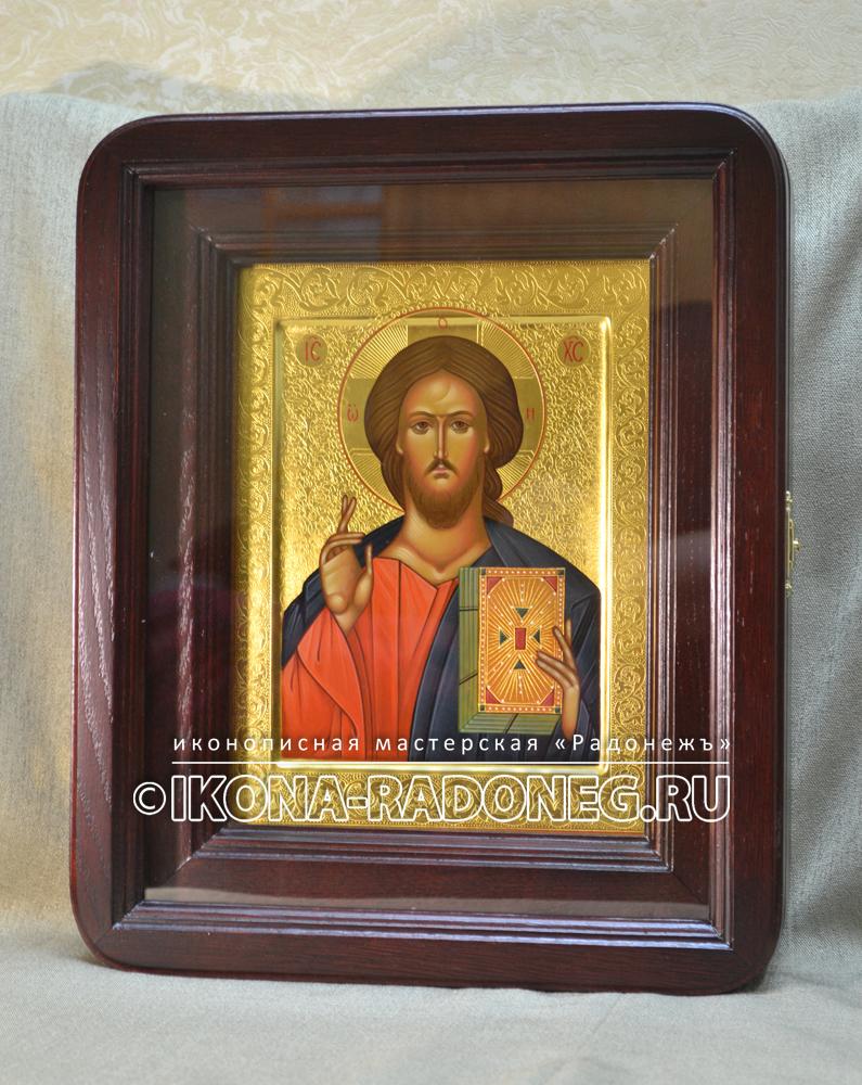 Господь Вседержитель - икона с гравировкой