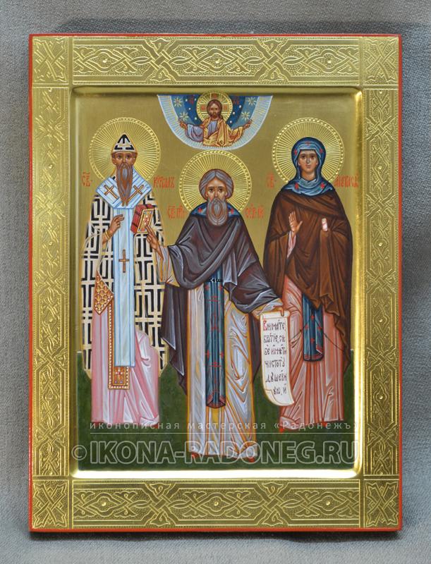 Семейная икона (3 фигуры) 4