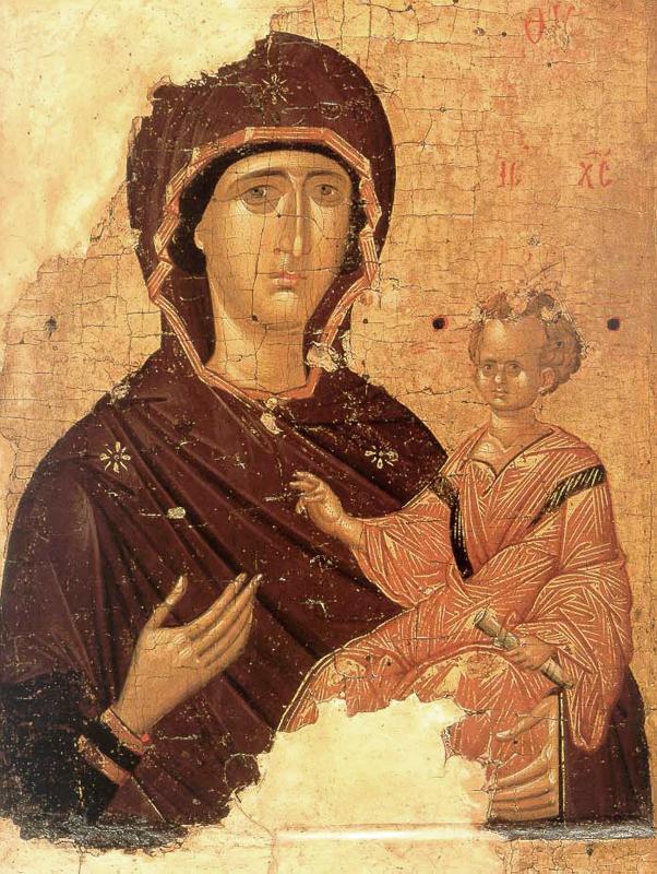 Икона Божией Матери - Одигитрия. Византия