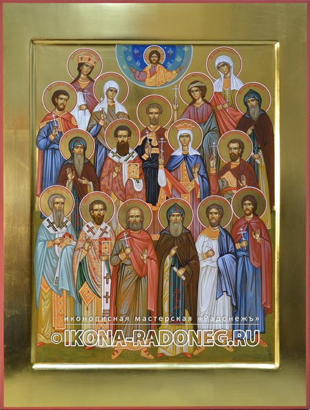 Семейная икона (17 фигур)