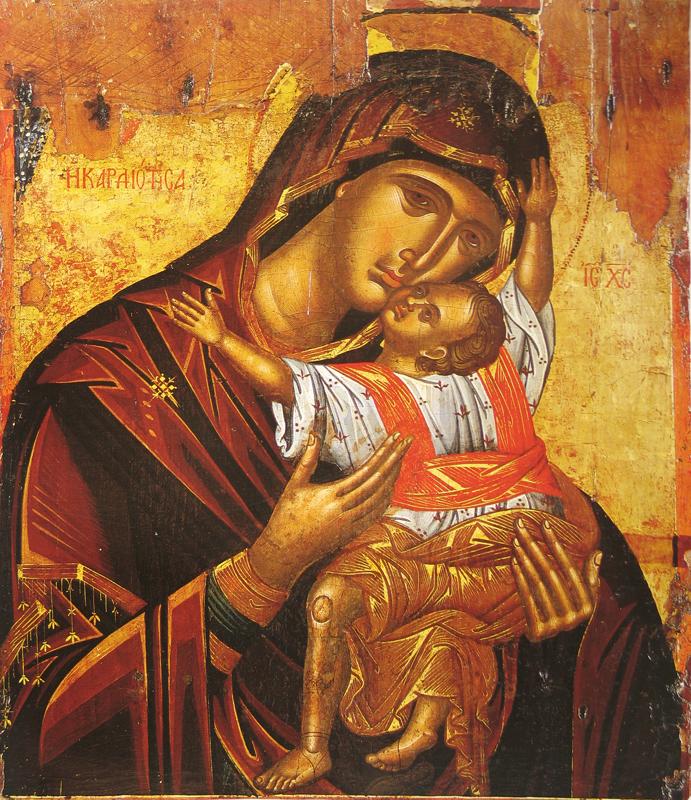 Икона Божией Матери - Кардиотисса. Византия. 16 век.