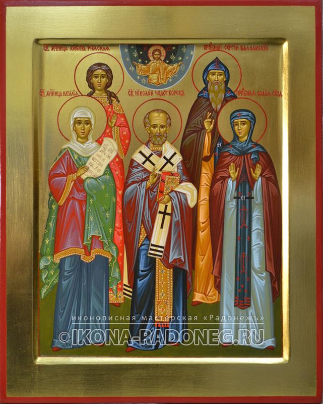 Семейная икона (5 фигур)4