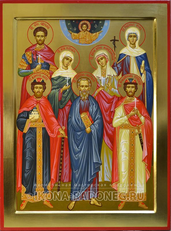 Семейная икона (7 фигур)3