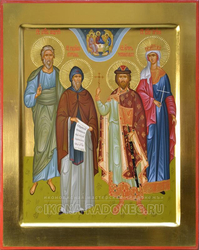Икона Семейная икона (4 фигуры) 7