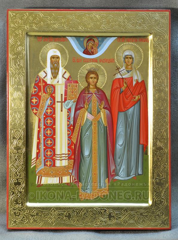 Икона Семейная икона (3 фигуры) 6