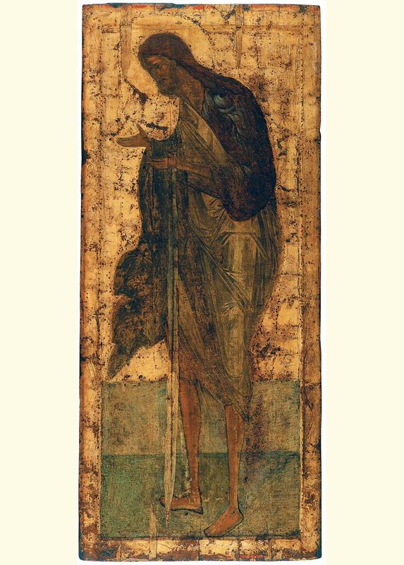 Деисусный чин Троицкого собора Троице-Сергиевой лавры. Богородица. 425-1427. Рублёв с учениками.