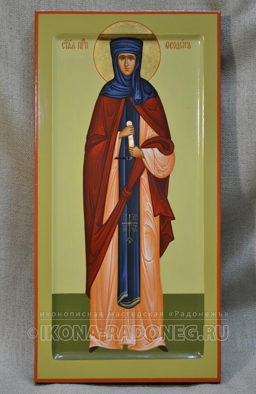 Икона преподобной Феодоры Александрийской