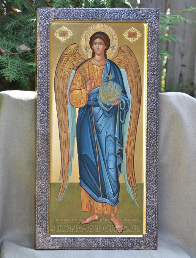 Икона с басмой-Архангел Михаил