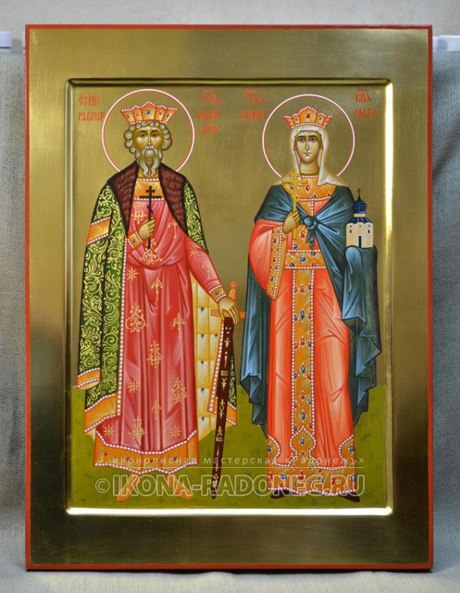 Икона святых Владимира и Ольги