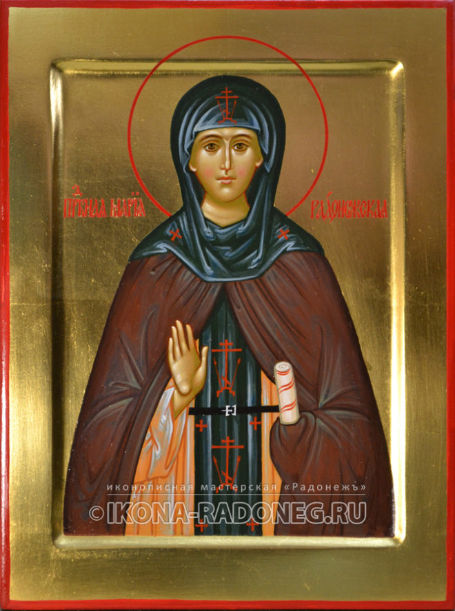 Икона преподобной Марии Радонежской
