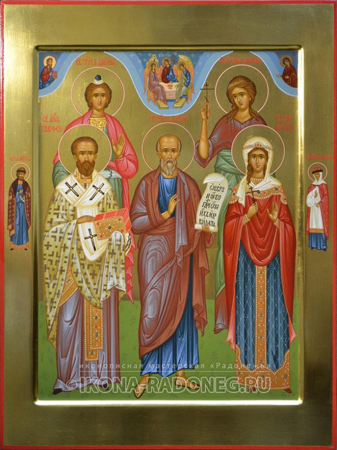Икона - Собор святых (5 фигур)