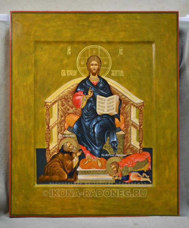 Господь Вседержитель с припадающими