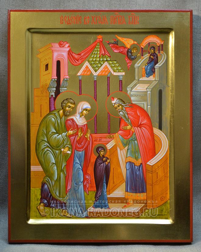 Икона-Введение во храм Пресвятой Богородицы