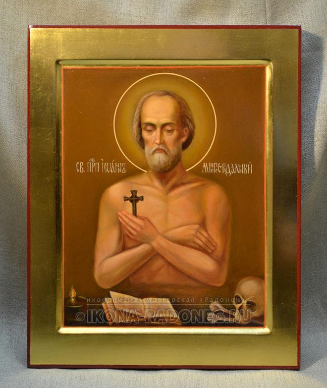 Икона преподобного Иоанна Многострадального