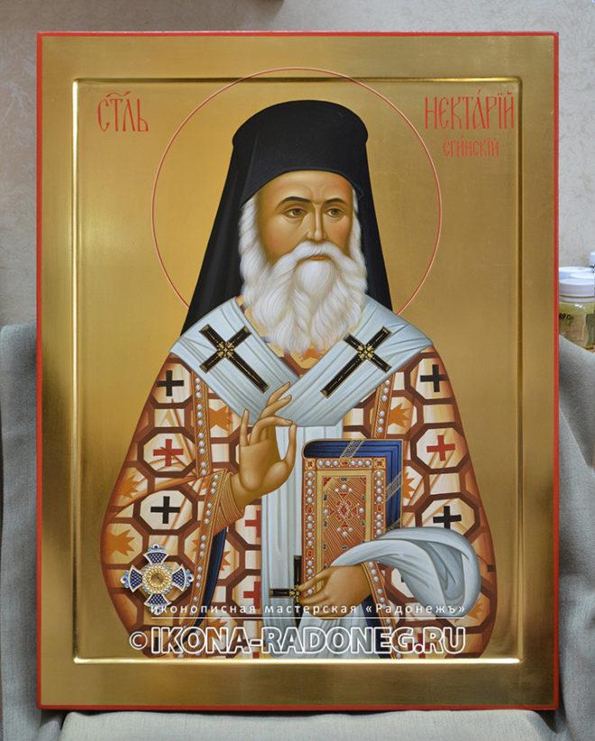 Икона святителя Нектария Эгинского